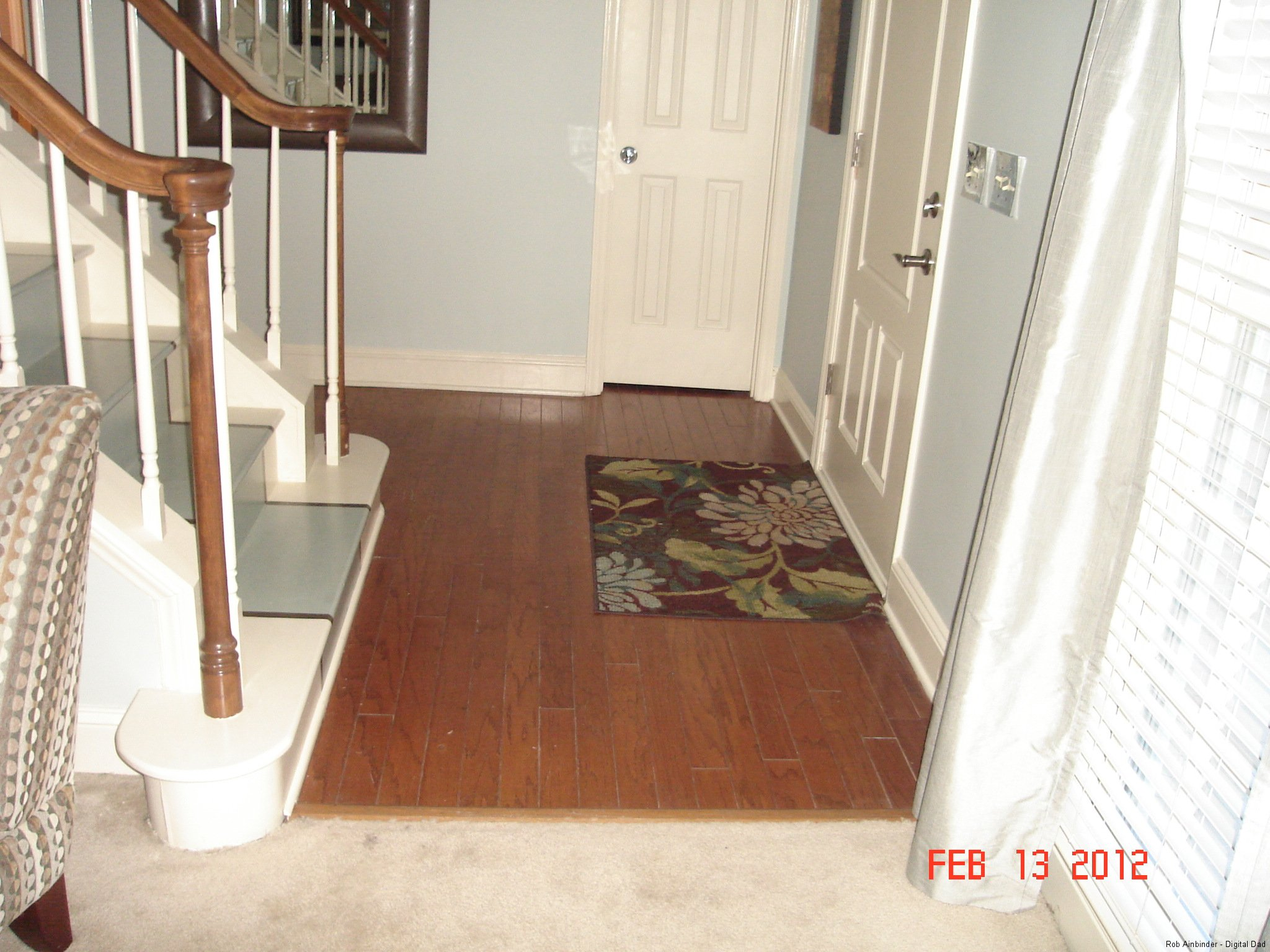 Wood floors at the Entry