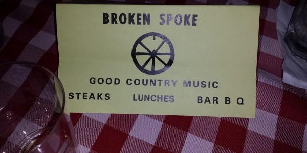 Broken Spoke table card
