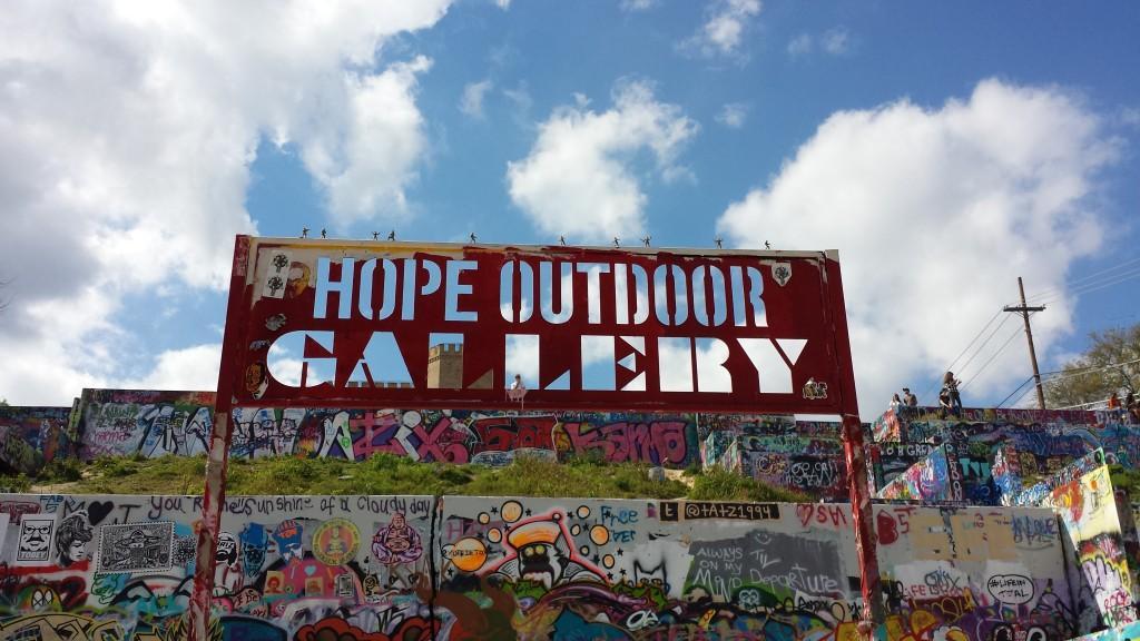 Hope Outdoor Gallery Art Sign