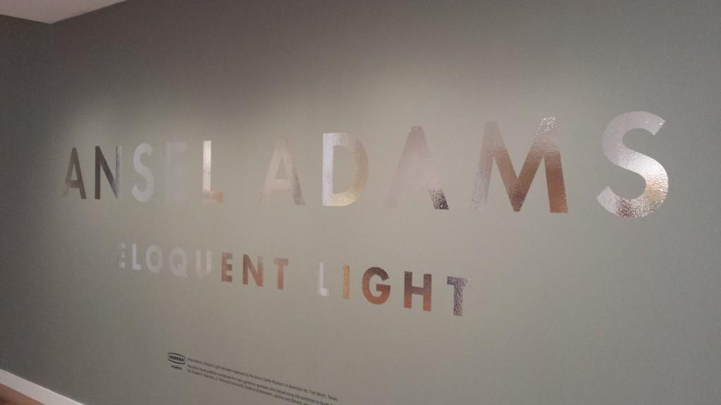 Eloquent Light title wall