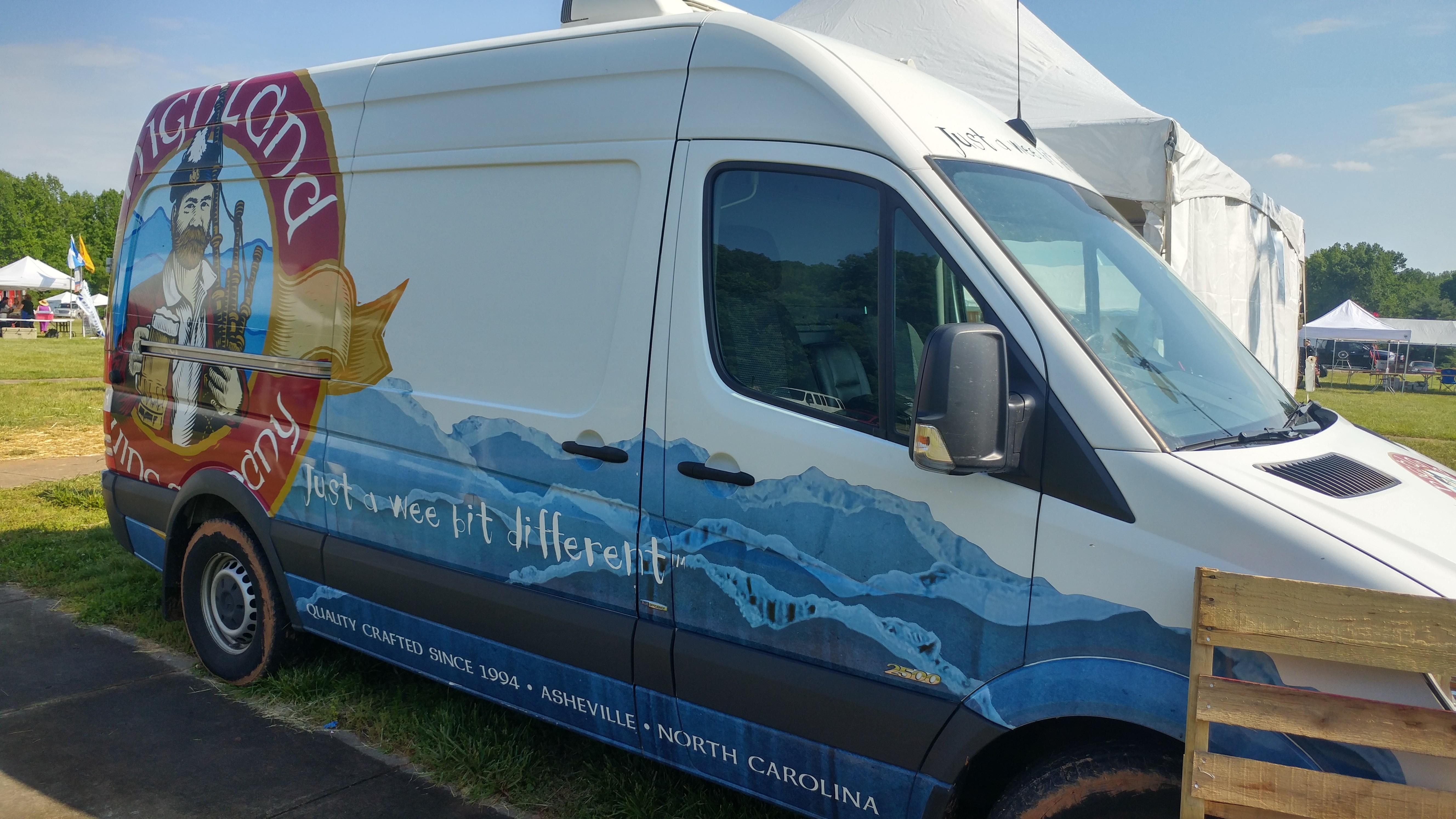 Highland Brewing van
