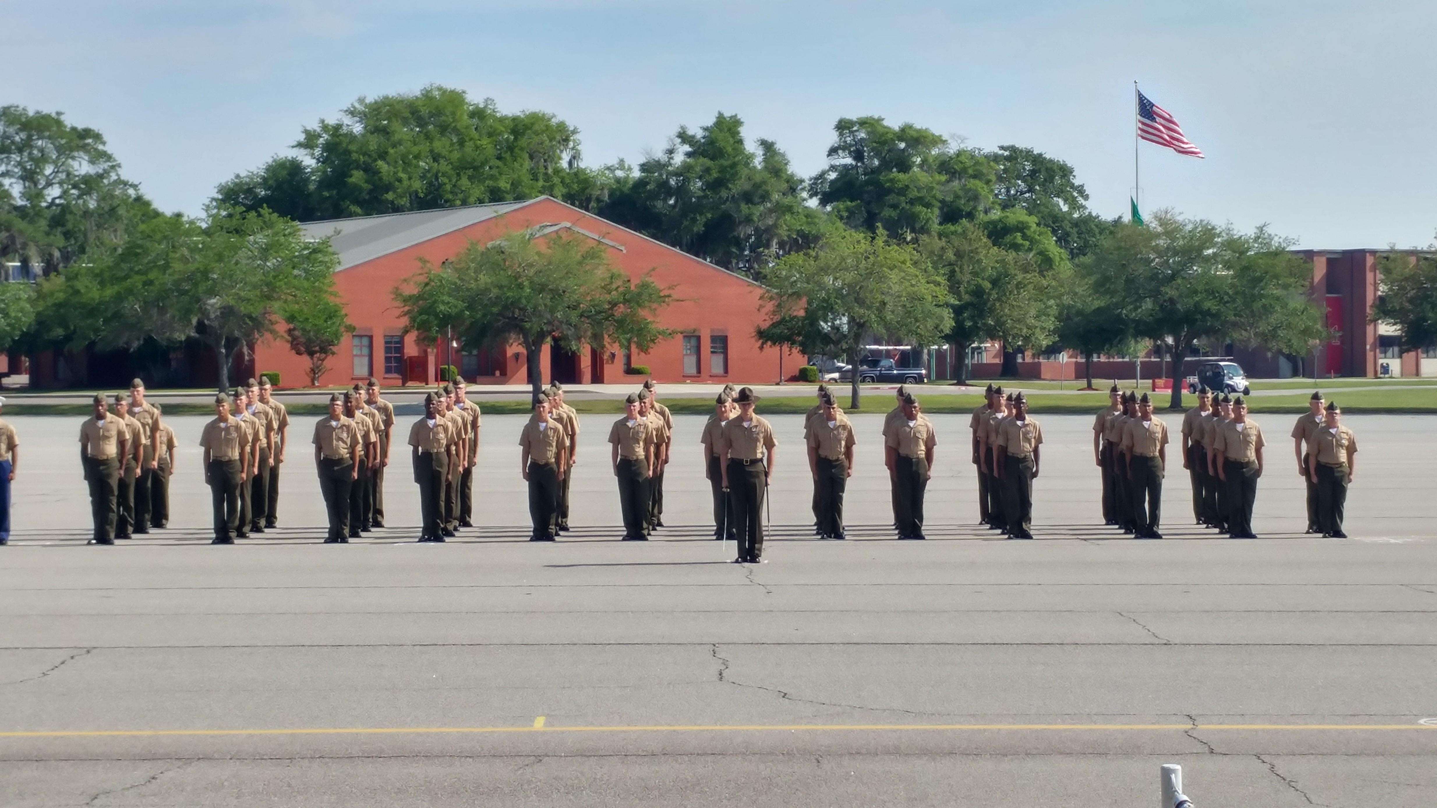 1034 Platoon on graduation day.