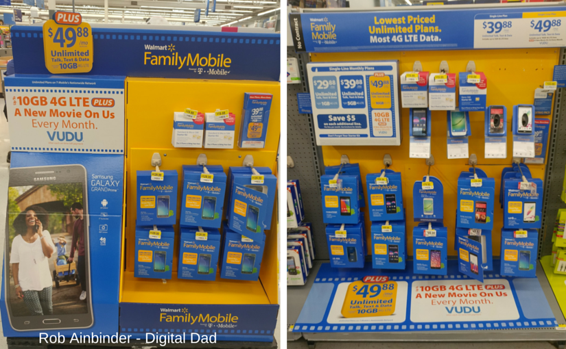Walmart Family Mobile Point of Purchase and Aisle displays.