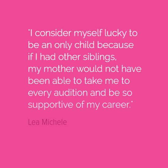 only-child-quote-lea-michele