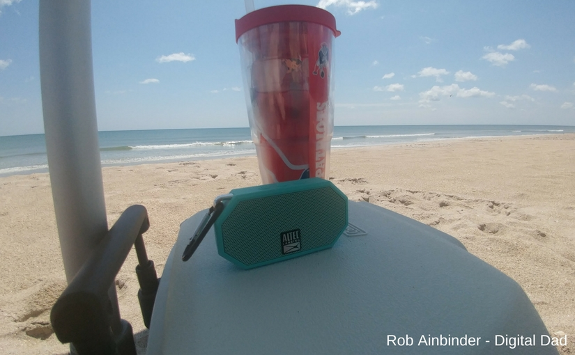 Picture of Altec Lansing Mini H20 Bluetooth on a cooler