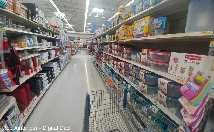 Walmart storage aisle
