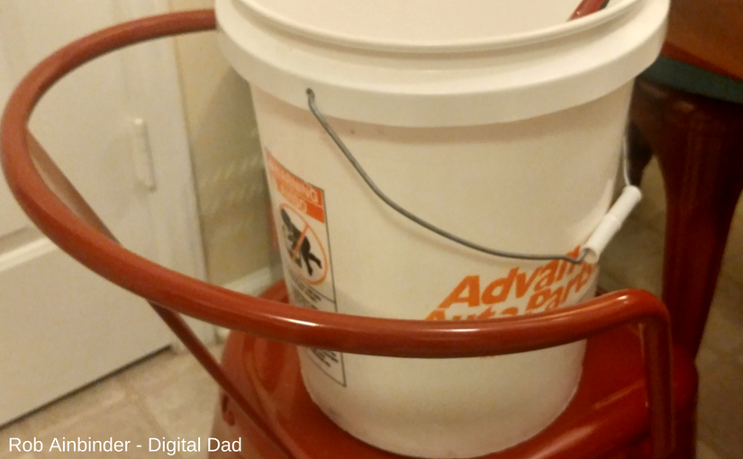 mixing homemade laundry detergent