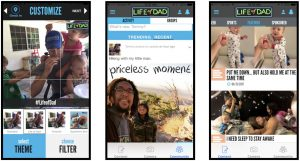 life of dad new app screens