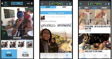 life of dad new app screens
